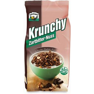 krunchy granola al cioccolato fondente con nocciole barnhouse scelgo bio. Black Bedroom Furniture Sets. Home Design Ideas
