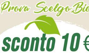 Ti regaliamo 10 euro da utilizzare su Scelgo.Bio