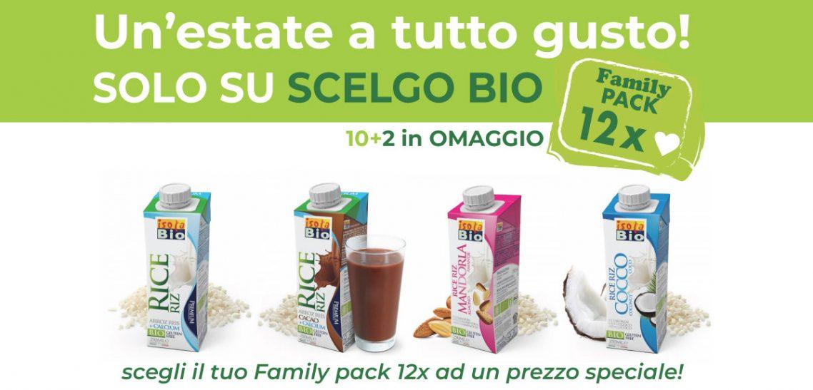 Bevanda vegetale Riso Premium di Isola bio: acquista il tuo Family pack 12x ad prezzo speciale.